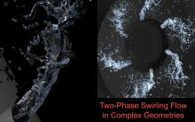 We develop methods to compute two-phase flows in realistic engineering geometries.
